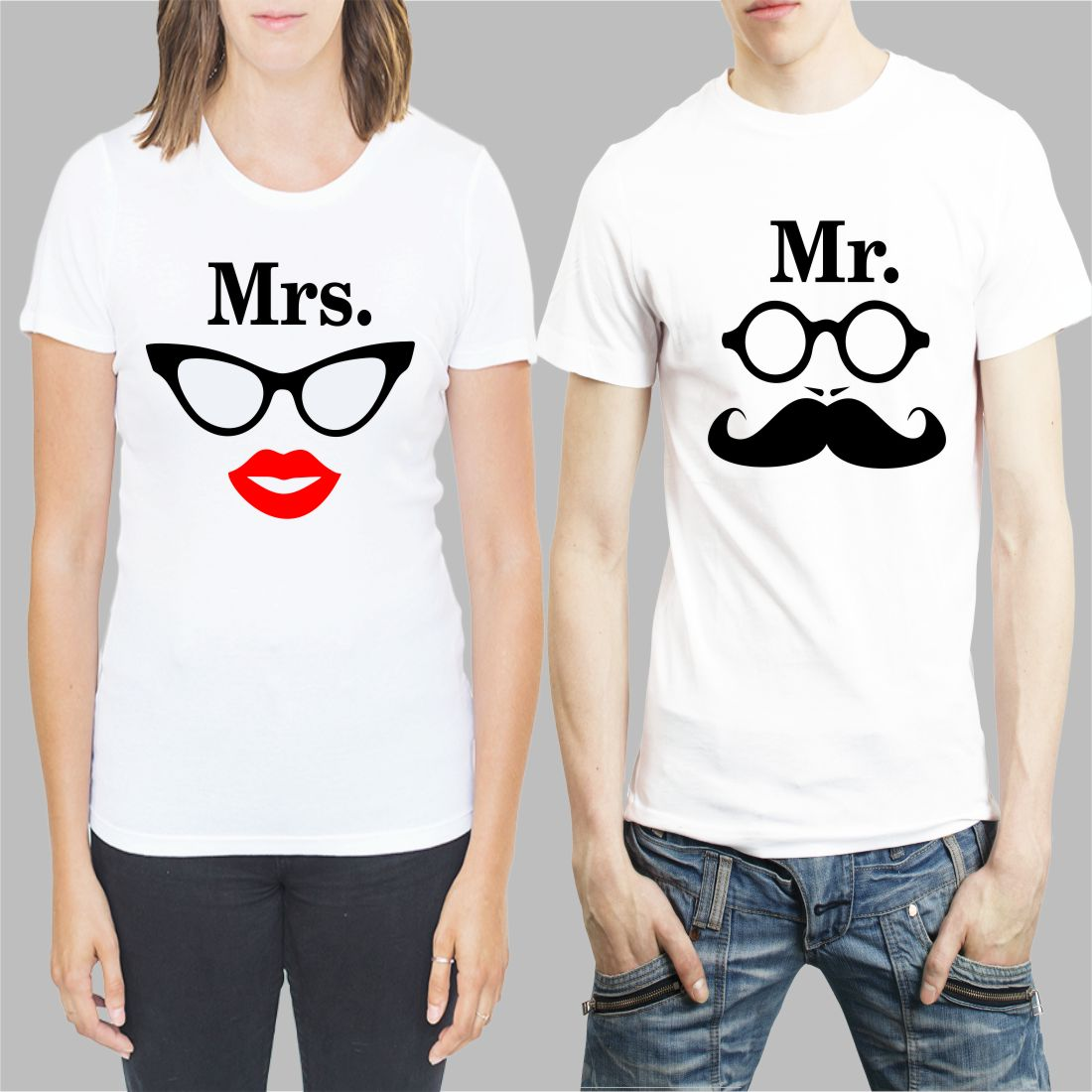 Mr and Mrs T shirt