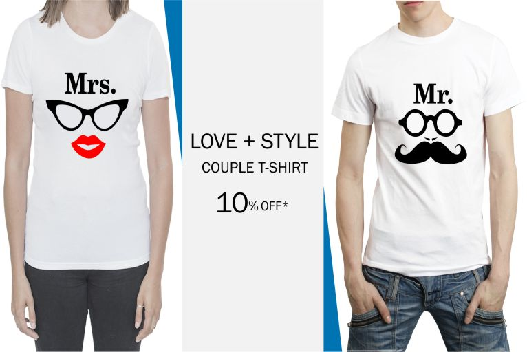 Men 39 s t shirts printed t shirts buy t shirts for men for Couple printed t shirts india